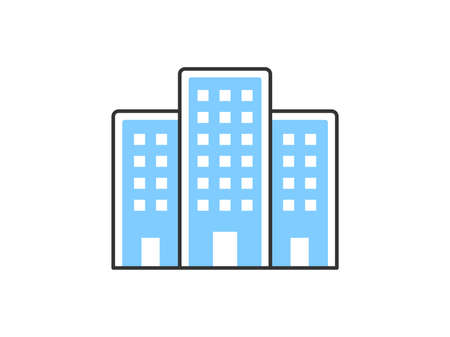 Office building icon illustration