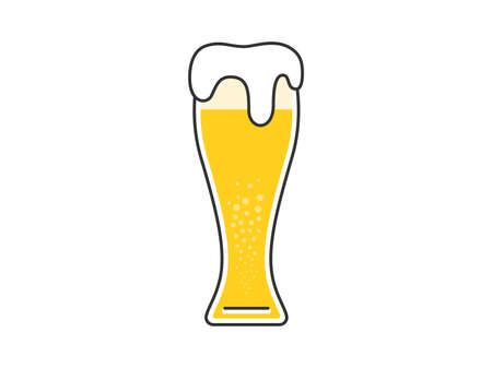 Illustration of beer in beer glass