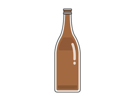 Illustration of empty bottle of beer bottle