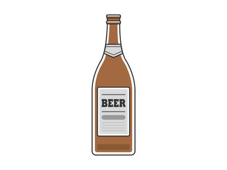 Illustration of beer bottle with plug open