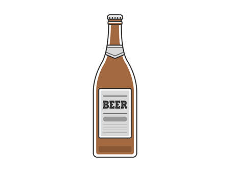 Beer bottle illustration Illustration