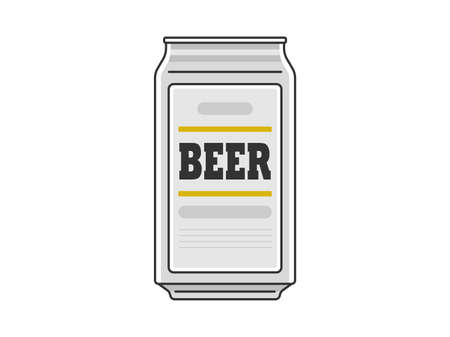 Illustration of canned beer Illustration