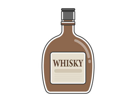 Whiskey Bottle Illustration