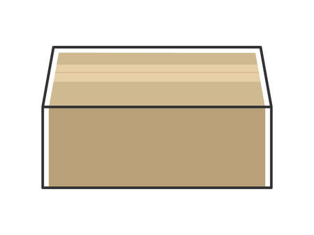 Illustration of packed cardboard Ilustrace