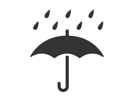 Umbrella Mark Icon Illustration