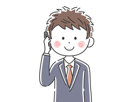 Illustration of businessman on the phone Ilustrace