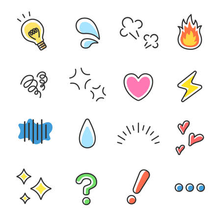 Illustration set of emotion icons