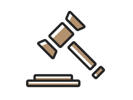 Auction Hammer Icon Illustration