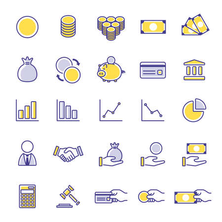 Financial Icon Illustration Set