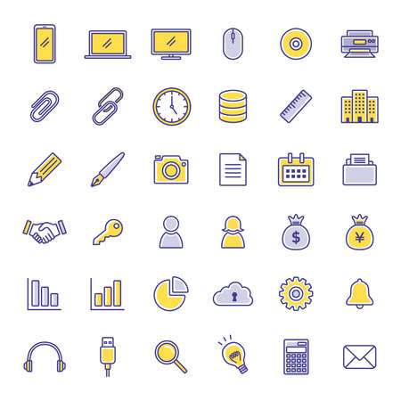 Business Icon Illustration Set