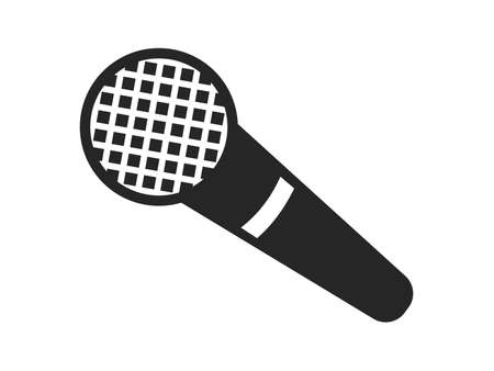 Microphone monochrome icon