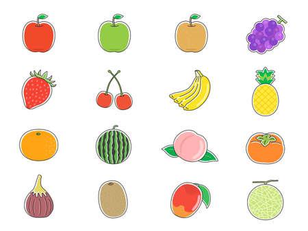 Fruit Illustration Set