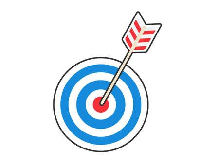 An illustration of an arrow stuck in the head