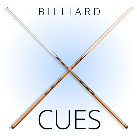 Billiards and pool wooden cues for entertainment.