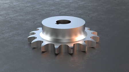 SPROCKETS AND GEARS - THESES PARTS ARE USED IN ROLLER CHAIN AND CONVEYOR CHAIN - 3D RENDER