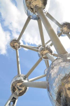 brussel: Atomium model in Brussel