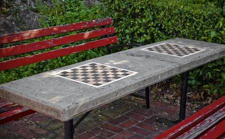 Checkerboard Parkbench