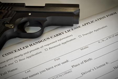 Concealed Handgun Permit Application Banque d'images