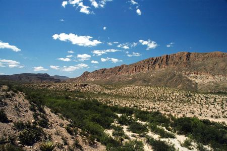 A canyon view from Big Bend National Park in West Texas. Stock Photo
