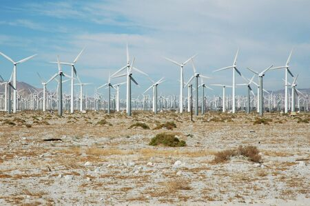 Desert wind farm just outside of Palm Springs California.