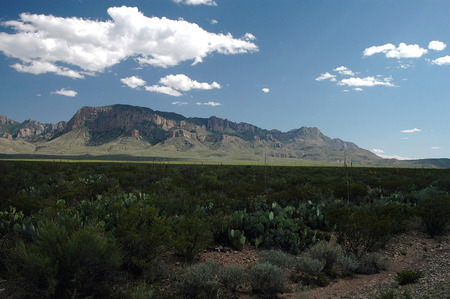 A view from the West Texas National Park of Big Bend. Stock Photo