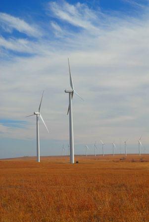 flint: A large wind farm in the southern Flint Hills of Kansas.