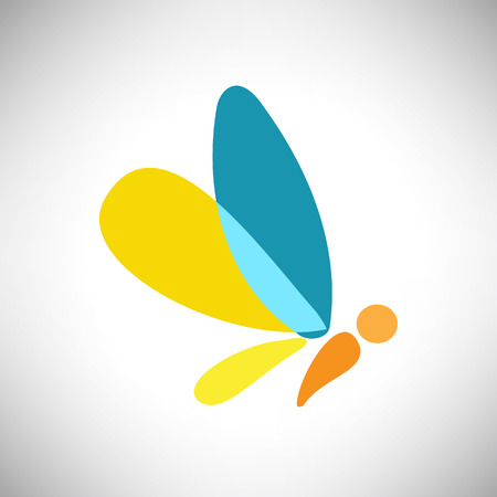 butterfly wings: Vector illustration of abstract Beautiful colorful shape butterfly for design