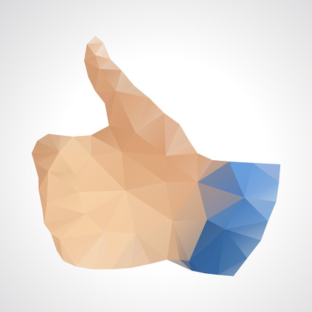 like button: Geometric abstract like button - vector illustration