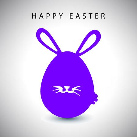 whisker: illustration card of easter violet rabbit egg with whisker