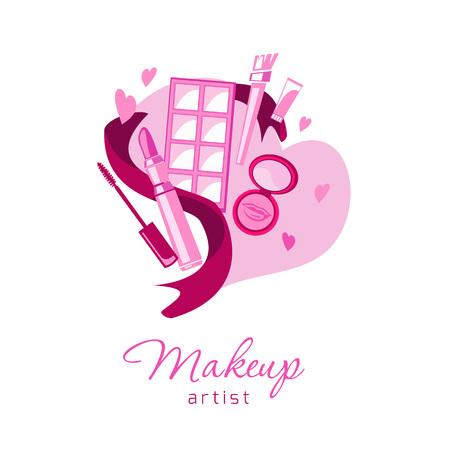 Fond de cosmétiques et de mode pour carte de visite, salon de beauté, visage et emblème de logo de beauté. Logo