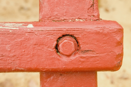 wooden beams: Steel screw joint point of wooden beams and wooden construction