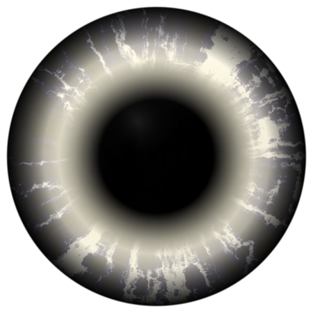 light reflection: Death hungry eye. Illustration of scary dark eye iris, light reflection. Open strange eyes
