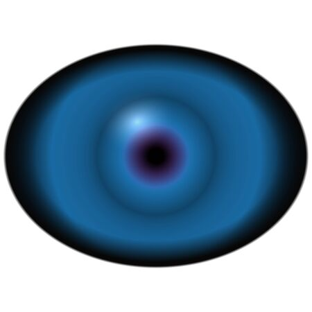 animal eye: Green animal eye with large pupil and bright retina in background. Dark green iris around pupil, detail view into eye bulb.