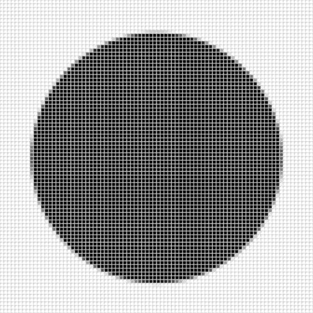 shadowed: Circle. The simple geometric pattern of black squares with shadowed frame. Set of dot patterns. Halftone pattern for the posters, banners, leaflets, flayers, presentations, Stock Photo