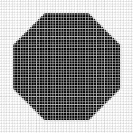 shadowed: Octagon. Square. The simple geometric pattern of black squares with shadowed frame. Set of dot patterns. Halftone pattern for the posters, banners, leaflets, flayers, presentations,