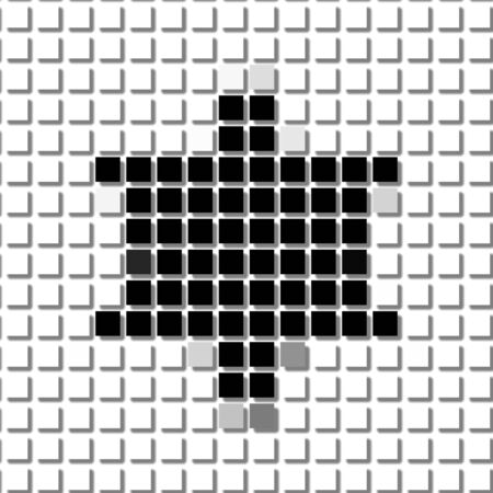 shadowed: Six pointed star, hexagon. The simple geometric pattern of black squares with shadowed frame. Set of dot patterns. Halftone pattern for the posters, banners, leaflets, flayers, presentations,