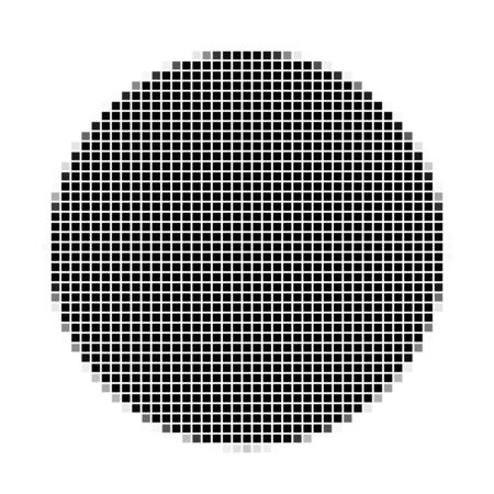 flayers: Circle. The simple geometric pattern of black squares with shadowed frame. Set of dot patterns. Halftone pattern for the posters, banners, leaflets, flayers, presentations, Stock Photo