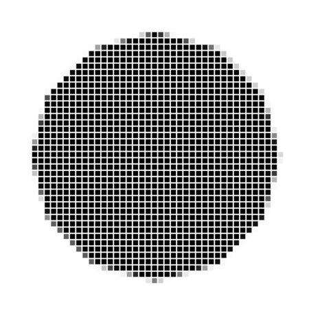 shadowed: Dodecagon. The simple geometric pattern of black squares with shadowed frame. Set of dot patterns. Halftone pattern for the posters, banners, leaflets, flayers, presentations,