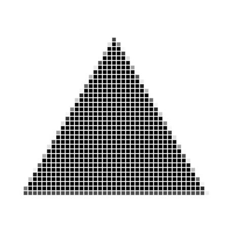 flayers: Triangle. The simple geometric pattern of black squares with shadowed frame. Set of dot patterns. Halftone pattern for the posters, banners, leaflets, flayers, presentations, Stock Photo