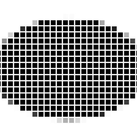 flayers: Ellipse. The simple geometric pattern of black squares with shadowed frame. Set of dot patterns. Halftone pattern for the posters, banners, leaflets, flayers, presentations, Stock Photo