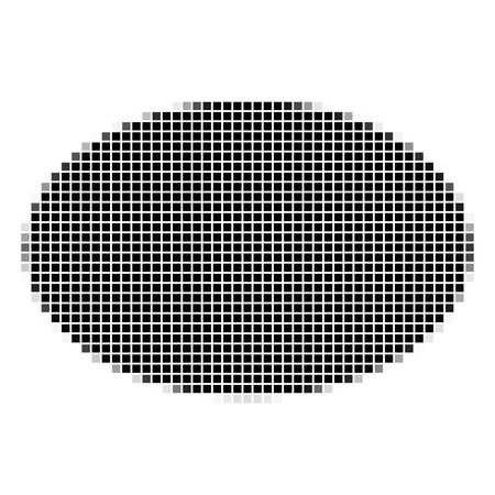 shadowed: Ellipse. The simple geometric pattern of black squares with shadowed frame. Set of dot patterns. Halftone pattern for the posters, banners, leaflets, flayers, presentations, Stock Photo