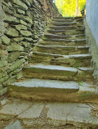 stone stairs: Old stone stairs in traditional outdoor theater