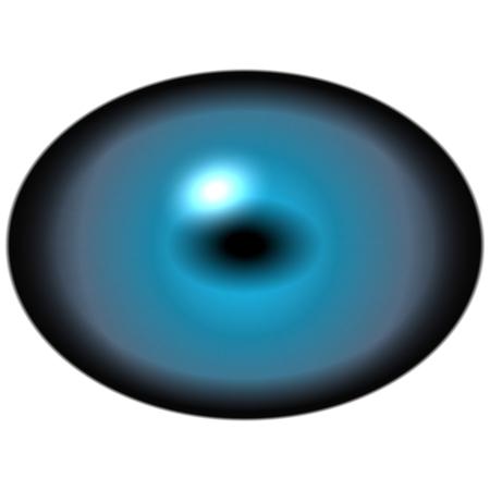 elliptic: Isolated blue eye. Big eye with striped iris and dark elliptic pupil with dark retina.