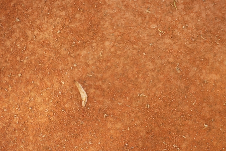 end of the trail: Dry lime leaf an tennis court. Dry red crushed bricks surface. Soft effect.