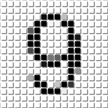 number nine: Nine. The simple geometric pattern of black squares in shape of number nine with shadowed frame. Set of dot patterns for posters, banners, leaflets, flayers, presentations,
