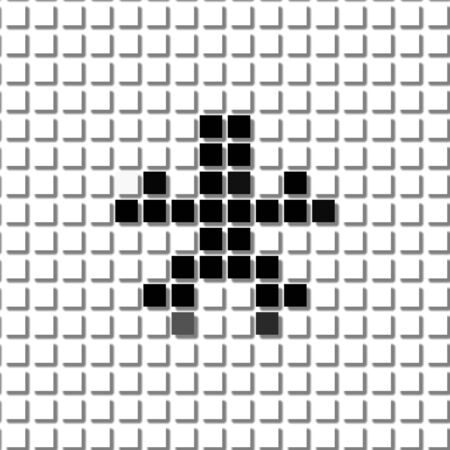 shadowed: The asterisk, star.  The simple geometric pattern of black squares in shape of  asterisk with shadowed frame. Set of dot patterns for posters, banners, leaflets, flayers, presentations