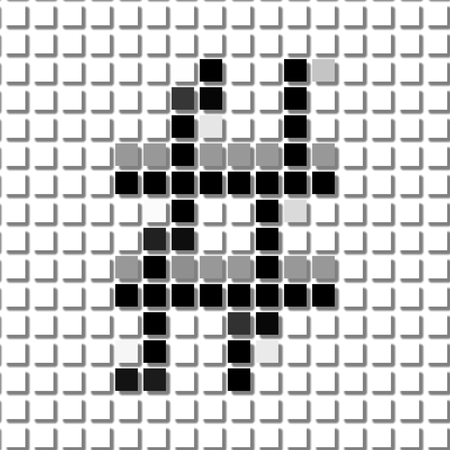 shadowed: The hash.  The simple geometric pattern of black squares in shape of  the hashwith shadowed frame. Set of dot patterns for posters, banners, leaflets, flayers, presentations