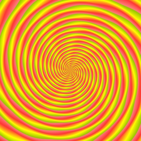 hypnotism: Abstract illustration of bright colorful spirals rotating on white background. Colorful illustration