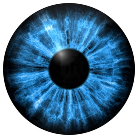 Illustration of human blue eye, light reflection. Middle size of open eyes. Stock Photo
