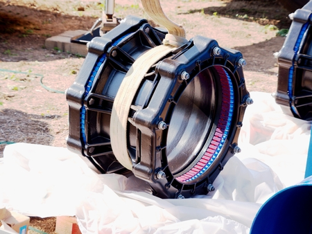 500 mm Waga new multi joint member. New spare parts for repairing of piping. Drink water pipeline joint.